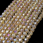 1 Strand of 10mm Glass Crystal Rounds - Gold AB